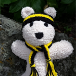 Footy Teddy Bear softies, sports team colours AFL Richmond Tigers, Soccer NRL