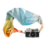 Scarf Camera Strap – Summer Blossom, silk scarf, camera accessories, DSLR