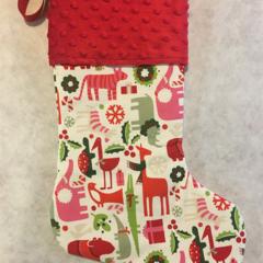 Personalised Christmas Stocking - Zoo Animals