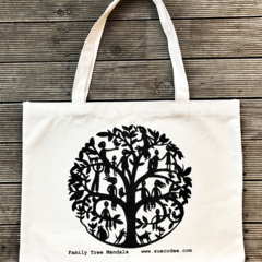 Family Tree Mandala Tote Bag