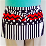 Utility teacher craft vendor waitress server daycare half apron with 6 pockets