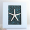 One Little Sea Star framed decor in mosaic