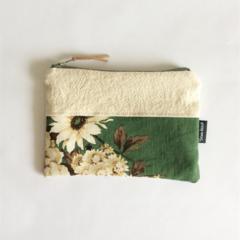 Ladies purse, clutch purse, zipper pouch, make up bag