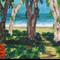 The Beach Path - Acrylic Seascape/Landscape Painting on Canvas