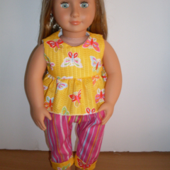 Our Generation Dolls capri pants and top