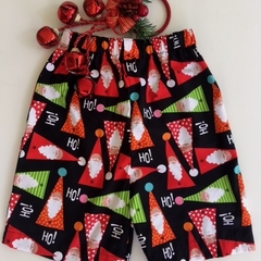 Sizes 3, 4, 5 & 6 - Ho! Ho! Santas Christmas Shorts