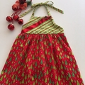 "Size 2 - ""Green Trees"" Christmas Dress"