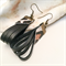 Black and Leopard print leather earrings