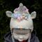 Unicorn earflap hat, Pinks or cream. Hand made crochet. Child hat, beanie.