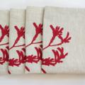 Kangaroo Paw Placemat Set of 4 in Red