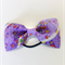 Bow hair elastic - PURPLE / Japanese crape /  handcrafted / traditional