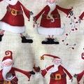 Sizes 4, 5 and 6 - 'Happy Santas'Christmas Shorts