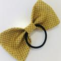 Bow hair elastic - MUSTARD YELLOW - KANOKO /Kimono / ponytail/ FREE SHIPPING