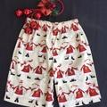 Sizes 4, 5 and 6 - 'Happy Santas' Christmas Shorts