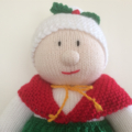 Mrs Claus  - hand knitted.