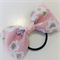 Bow hair elastic - PINK -SAKURA / Japanese crape / handcrafted / traditional