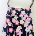 Bag organizer - BLACK × PINK - UME / Japanese / travel bag / wristlet