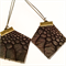 Ostrich leather Hexie earrings