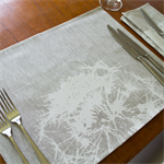 Dandelion Placemat Set of 4 in White