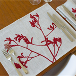 Kangaroo Paw Placemat Set of 4 in Red