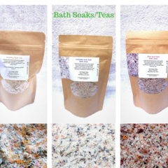 Bath Tea/Soak 1x 350g ( Soothing Bath Tea, Lavender & Oats and  Rose & Oats )
