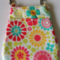 Bag organizer - WHITE - FLOWER / travel bag / wristlet