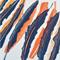 Layered Leaves Blue Original Linocut Nature Foral Decor
