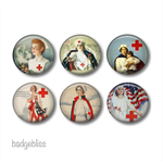 Fridge magnet set, Vintage nurse fridge magnets