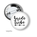 10 Hens party badges, Bride Tribe