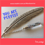 YOU ARE PERFECT - bookmark