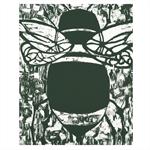 Bee Woodcut Original Cottage Decor