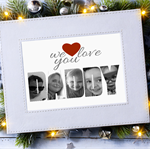 We Love You Daddy Photo Art Gift, Personalised