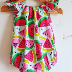 Baby girl watermelon romper   size 00