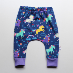 Girls Rainbows and unicorns knit harem pants, leggings