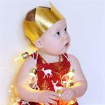 Metallic Gold Crown - Christmas Crown -Wild One Birthday Crown