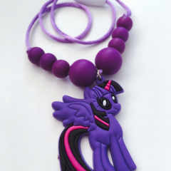 Washable Kids Jewellery - Purple Pony!
