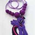 Washable Kids Jewellery - Purple Pony!