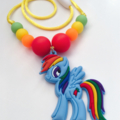 Washable Kids Jewellery - Rainbow Pony!