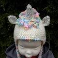 Unicorn soft toy, magical friend for child. Hand made crochet softie.