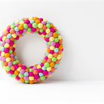 Summer Wreath. Spring wreath. Bright Fun Christmas wreath. Multicolor wreath