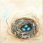 Eastern Yellow Robin nest and eggs