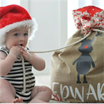 PERSONALISED SANTA SACK - RUDY OR RUBY REINDEER