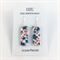 Handcrafted tropical floral polymer clay earrings sterling silver hooks