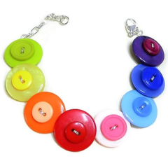 Button bracelet - Rainbow