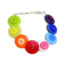 Rainbow Button bracelet