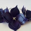 Purple Crown Headband, Leather Crown,Leather Flower Headpiece, Wedding Fascinato