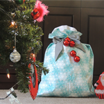Santa sack. Christmas stocking. Gift bag. Large sack.