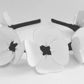 Sweethearts White And Black Leather Crown, Headband, Fascinator