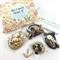 Make it yourself 3 necklaces gift kit-wooden beads & cream ceramic bird pendant