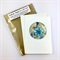 Glass pendant in a gift card: Christmas, Birthday or Thank you- turquoise heart